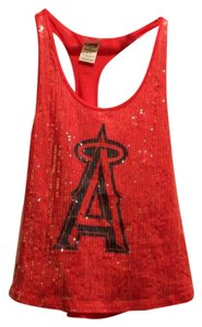 PINK Sparkle Angels Victoria Secret Top Red