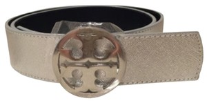 Tory Burch Metallic Reversible Logo Belt