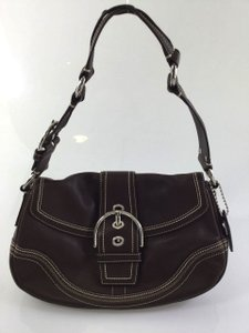 Coach Leather Hang Tag Satchel Legacy Shoulder Bag