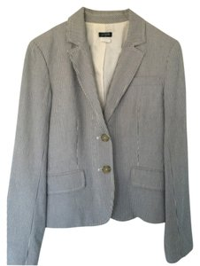 J.Crew White and blue Blazer