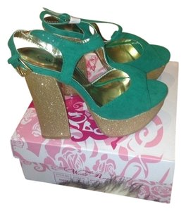 Lola Boutique Glitter Spring Summer Fall Wedges