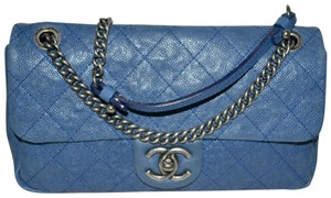 Chanel Distressed Chain Strap Boyfriend Quilted Leather Caviar Leather Cross Body Bag