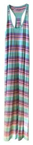 Aqua, purple, orange and white Maxi Dress by Gap