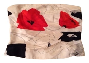 Kay Unger Red White Black Halter Top