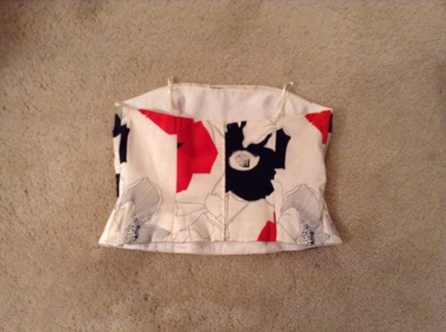 Kay Unger Red White Black Halter Top Image 2