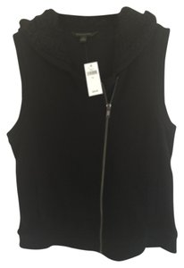 Banana Republic Warm Sherling Black Vest