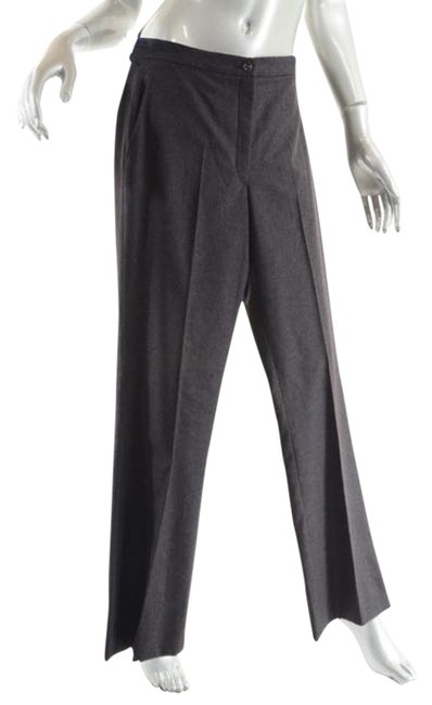 Item - Charcoal Grey W 100%wool Flannel Clean Front W/Hip Pockets - 40 Pants Size 4 (S, 27)
