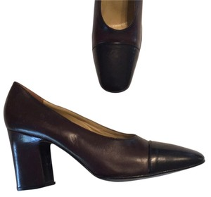 Bally Brown Black Pumps