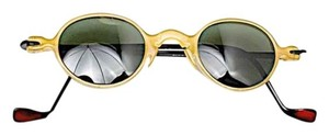 BEAUSOLEIL BEAUSOLEIL Paris Dijon 'Hand Made France' Sunglasses CE 23 504B - Green Lens