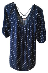 Pixley Top Blue and white