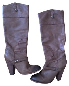Sam Edelman Leather Boot Brown Boots