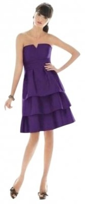 Alfred Sung Purple 463 Mid-length Cocktail Dress Size 8 (M) Alfred Sung Purple 463 Mid-length Cocktail Dress Size 8 (M) Image 1