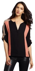 BCBGMAXAZRIA Bcbg Max Azria Sheer Top Black Combination