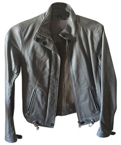 A|X Armani Exchange Grey Leather Jacket