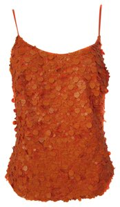 Sequin Spaghetti Strap Top Orange