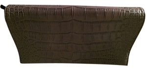 Calvin Klein Leather Croc Embossed Chic gray Clutch