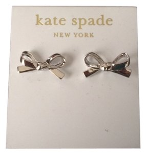 Kate Spade kate spade new york Earrings, 12k Gold-Plated Silver Enamel Skinny Mini Bow Stud Earrings
