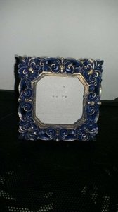 Blue and Gold Placecard Frames Reception Decoration