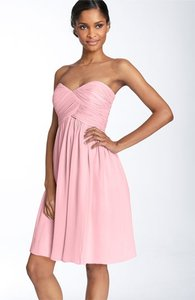 Donna Morgan Blush Pink Chiffon Formal Bridesmaid/Mob Dress Size 8 (M)