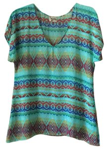 Show Me Your Mumu Top Mint, Green, Yellow, Red, Blue
