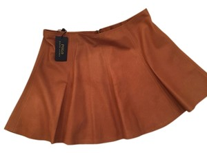 Polo Ralph Lauren Skirt Brook tan leather