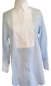 ELLERY Button Down Shirt Light blue with white combination