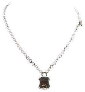 Franco Pianegonda PIANEGONDA 18K GOLD & SILVER SMOKEY QUARTZ NECKLACE