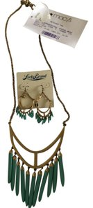 Lucky Brand Spike Statement Necklace and Earring Set