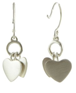Me & Ro ME & RO DOUBLE HEART DANGLE EARRINGS