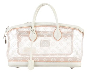 Louis Vuitton Spring 2012 Lockit Limited Edition Handbag Satchel in White Transparence Monogram