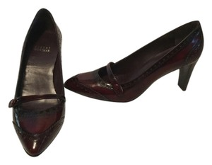 Stuart Weitzman Ombre Spectator Dark red patent leather Pumps