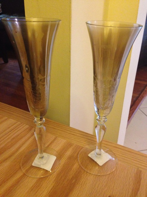 Item - Golden Luster Tint Set Of Toasting Flutes Casual China