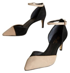 Anthropologie Miss Albright Chantant Suede Black Pumps
