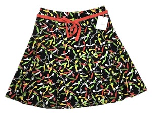 Liz Claiborne Fit & Flare Box Pleated All-over High Heel Print Skirt Multi-color