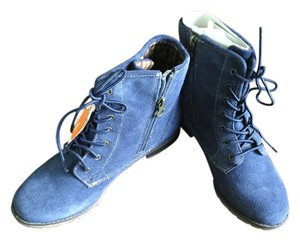 Sporto Durable Comfortable Leather Navy Boots