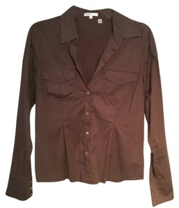 Vince Button Down Shirt Brown