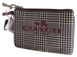 Coach Wristlet in Black, Cranberry Multi