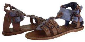 Matisse Baller Denim Leather Sandal Denim/Brown Sandals
