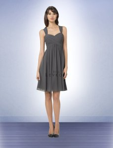 Bill Levkoff Pewter Bill Levkoff Style 761 Chiffon Dress
