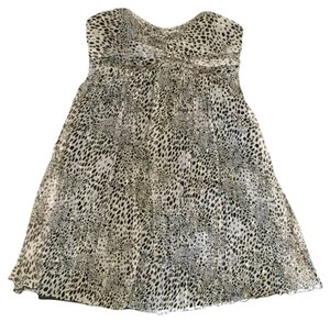 Express Strapless Strapless Leopard Leopard Strapless Strapless Cocktail Casual Night Out Above Knee Leopard Dress