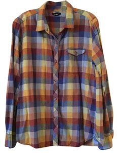 BDG Button Down Shirt Plaid