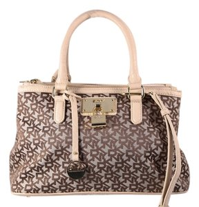 DKNY Satchel in Biege/Brown