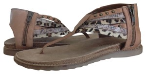 Matisse Leather Calf Hair Tan Sandals