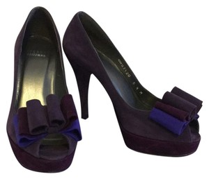 Stuart Weitzman Purple Platforms