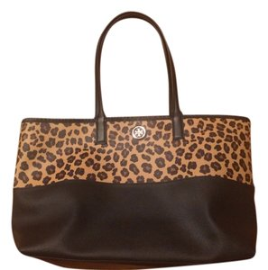 Tory Burch Tote in Black and Print