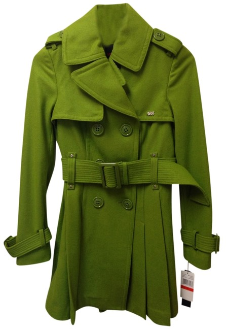 Item - Green Belted Double Breasted Buttons Coat Size 2 (XS)