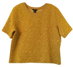 H&M Top mustard yellow