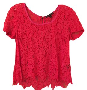 Lucca Couture Top Red and pink