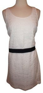 Sachin + Babi short dress White with Black Eyelet Size 6 on Tradesy
