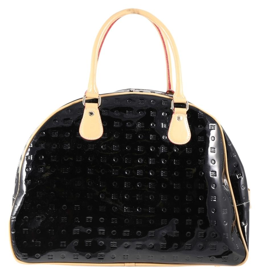 a1cd90e79aae Arcadia Embossed Bowling Black Patent Leather Shoulder Bag - Tradesy